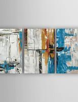Handgemalte Abstrakt Horizontal,Modern Drei Paneele Leinwand Hang-Ölgemälde For Haus Dekoration