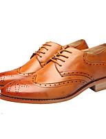 Men's Oxfords Spring Comfort Pigskin Casual Flat Heel Black Brown Red