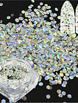 1 Bottle Fashion Laser Silver Nail Art Mermaid Hexagon Paillette Glitter Fish Scale Slice Nail Art Decoration Paillette Glitter Thin Slice LP01