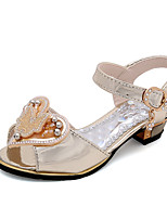Girls' Sandals Summer Comfort Leatherette Outdoor Office & Career Party & Evening Dress Casual Low Heel Applique Imitation Pearl