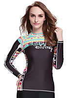 SBART® Women's Wetsuit Top Sunscreen Elastane Terylene Diving Suit Long Sleeve Tops-Swimming Spring Summer Fall/Autumn WinterFashion