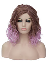 European and American fashion daily small and pure and fresh Brown gradient Instant noodles (cos wig 1885