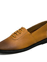 Men's Loafers & Slip-Ons Spring / Summer Comfort Cowhide Casual Flat Heel Black / Brown / Yellow Walking
