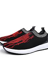Homme-Extérieure Décontracté-Noir/Rouge Noir/blanc-Talon Plat-Semelles Légères Confort-Baskets-Tulle