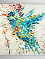 Hand-Painted  Abstract Bird by Knife  Canvas Oil Painting With Stretcher For Home Decoration Ready to Hang