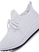 Women's Sneakers Spring Summer Comfort Light Soles Tulle Outdoor Athletic Casual Low Heel Running