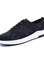 Men's Athletic Shoes Fall Winter Comfort PU Casual Flat Heel Lace-up Black Others