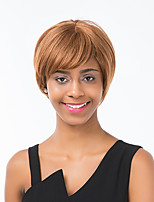 Enchanting Linen Straight Short Human Hair Wig  Suitable For All Kinds Of People