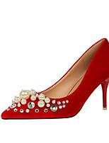 Красный Зеленый Розовый Миндальный Вино-Для женщин-Для офиса Для праздника-Дерматин-На шпильке-Удобная обувь-Обувь на каблуках