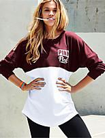 Men's Sports Sweatshirt Solid Round Neck Inelastic Cotton Linen Long Sleeve Spring