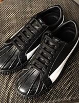 Белый Черный Красный-Для мужчин-Повседневный-Микроволокно-На плоской подошве-Удобная обувь-Мокасины и Свитер