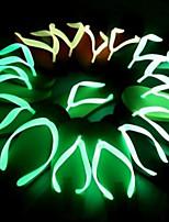 Unisexe-Extérieure Décontracté-Noir Jaune Rouge Vert Bleu-Talon Plat Talon Aiguille-chaussures Luminous Confort Nouveauté-Sandales-