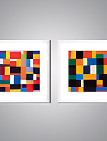 Framed Canvas Print Abstract Painting Colors Contemporary Abstract Art with White Frame for Wall Decor Ready to Hang