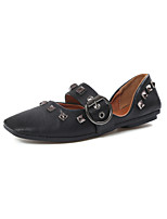 Women's Sandals Summer Ballerina Leatherette Outdoor Casual Low Heel Rivet Walking