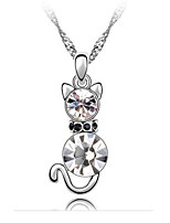 Women's Pendant Necklaces Crystal Chrome Animal Design Euramerican Fashion Personalized Adorable Jewelry For Wedding Party Congratulations