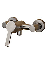 Contemporary Antique Country Tub And Shower Widespread with  Ceramic Valve Single Handle Two Holes for  Stainless Steel , Bathtub Faucet
