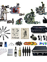 Complete Tattoo Kit 4  Machines Diamond Dual Digital LED Power Supply  Liner & Shader