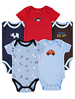 Baby Casual/Daily Sports Holiday Solid Print Embroidered One-Pieces,Cotton Summer Fall Short Sleeve
