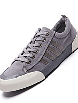 Men's Sneakers Spring Fall Comfort Canvas Outdoor Casual Flat Heel Gray Blue Khaki