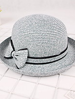 Curling Basin Cap Summer Bow Straw Sun Hat Outdoor Beach Costume Tourism Uv Lady Wide Large Brim Floppy Sunscreen Foldable Cap