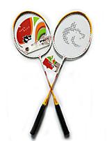Raquettes de Badminton Durable Légère Antidérapant Alliage de fer Une Paire pour