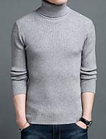 Herren Standard Pullover-Ausgehen Lässig/Alltäglich Party/Cocktail Retro Einfach Solide Rollkragen Langarm Wolle Winter Dick