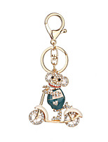 Key Chain Key Chain Brown Golden White Metal