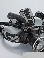 Lanternas de Cabeça LED Lumens Modo 18650.0 Fácil de Transportar Campismo / Escursão / Espeleologismo Uso Diário Exterior Liga de Aluminio