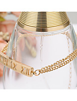 Chain Bracelet Alloy Rectangle Natural Initial Jewelry Women's Girls´ Jewelry 1pc