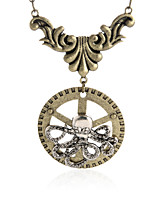 Homme Pendentif de collier Bijoux Forme de Cercle Alliage Original Logo Nœud papillon Cœur Religion Bronze Bijoux Pour Occasion spéciale