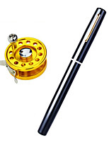 Fonoun Pen Fishing Rod FRP with Steel Reel 20m Fishing Line Hooks Lures Float FN11