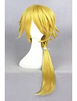 Médio longo touken ranbu em linha tachi shishiou ouro sintético 24inch anime cosplay cabelo peruca cs-231h
