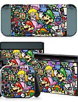 Nintendo Switch Scratch Stickers Anime Fuselage Graffiti Mario