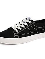 Белый Черный Красный-Для мужчин-Для прогулок Повседневный Для занятий спортом-Полотно-На плоской подошве-Удобная обувь-Кеды
