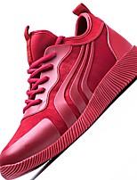 Черный Красный-Для мужчин-Для прогулок Для занятий спортом-Тюль-На плоской подошве-Удобная обувь Светодиодные подошвы-Кеды