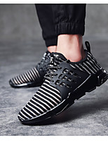 Men's Athletic Shoes Spring Summer Fall Winter Comfort PVC Fabric Outdoor Athletic Casual Lace-up Black White Walking
