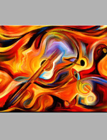 Hand-Painted Abstract  The Violin Oil painting Ready To Hang Modern One Panels Canvas Oil Painting For Home Decoration