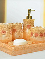 Bathroom Accessory Set of 6 Objects Resin /Barroco