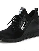 Da donna-Sneakers-Casual-Comoda-Piatto-PU (Poliuretano)-Bianco Nero