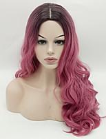 популярный 1б / розовый цвета ломбер волна синтетические парики для женщин афро