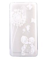 Para Ultra-Fina Transparente Estampada Capinha Capa Traseira Capinha Dente de Leão Macia TPU para HuaweiHuawei P8 Lite (2017) Huawei