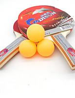 3 étoiles Ping Pang/Tennis de table Raquettes Ping Pang Bois Long Manche Boutons Intérieur Utilisation Exercice Sport de détente-#