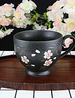 Pink Plum Blossom High Temperature Porcelain Tea Cup/Coffee Mug 330 ml