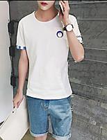 Summer new men's short-sleeved T-shirt the color of the shirt cuffs Aberdeen Wind