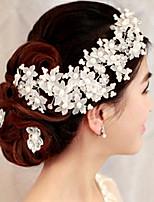 1 Pcs Manually Bride Headdress With Handmade Pearl Tire Headdress Flower Bride Accessories