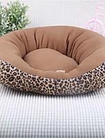 кошка кровать собаки кровать любимчика мягкая подушечка леопарда ткани