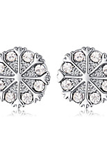 Stud Earrings Crystal Crystal Gold Plated Fashion White Jewelry Daily Casual 1 pair