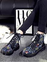 Women's Boots Comfort Pigskin PU Casual Flat Heel Screen Color