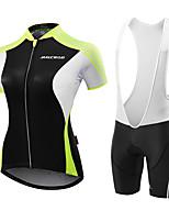 MALCIKLO® Maillot et Cuissard de Cyclisme Femme Manches courtes VéloRespirable Design Anatomique Perméabilité à l'humidité zip YKK