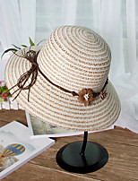 Bow Straw Sun Hat Outdoor BeachUv Lady Wide Large Brim Floppy Sunscreen Foldable Cap